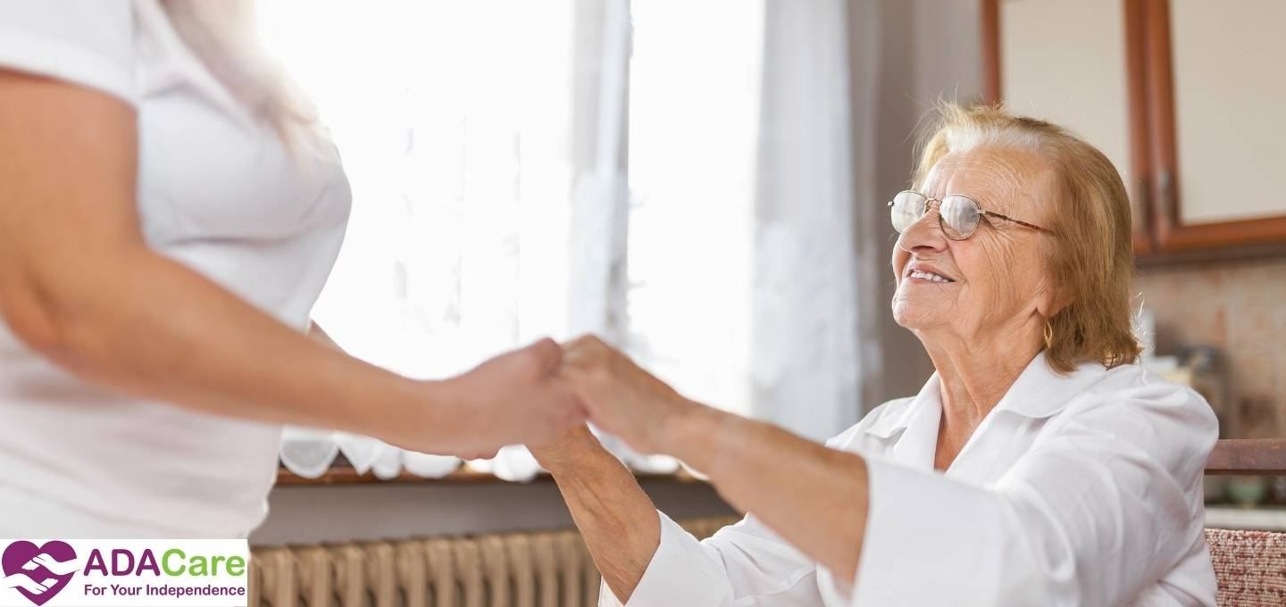 woman aged care help